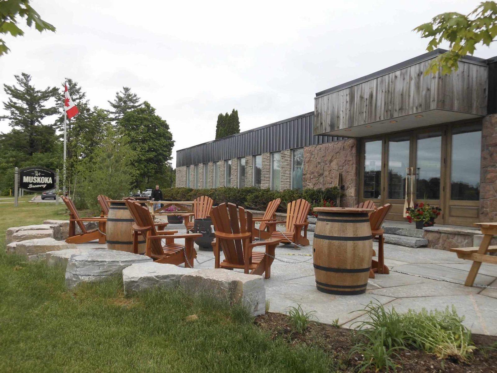 Muskoka Brewery outdoor patio