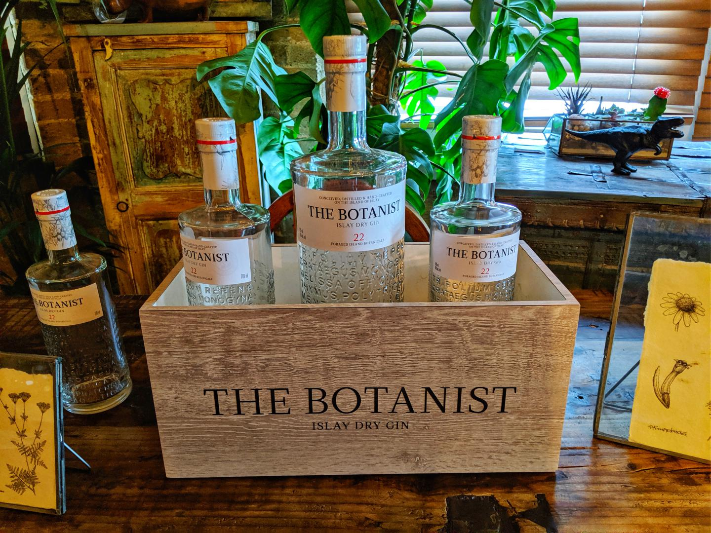 Botanist Gin sitting on a table