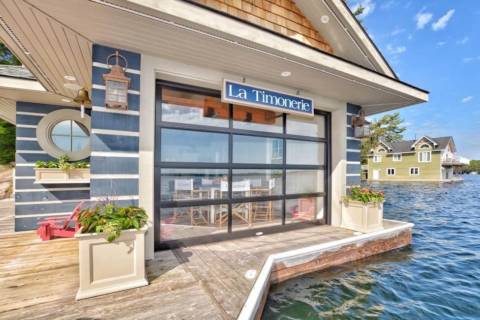07-La Timonerie showing luxury muskoka cottage rentals boathouse