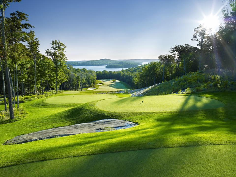 Bigwin Island Golf Club 6th hole Muskoka golf course holes lake view
