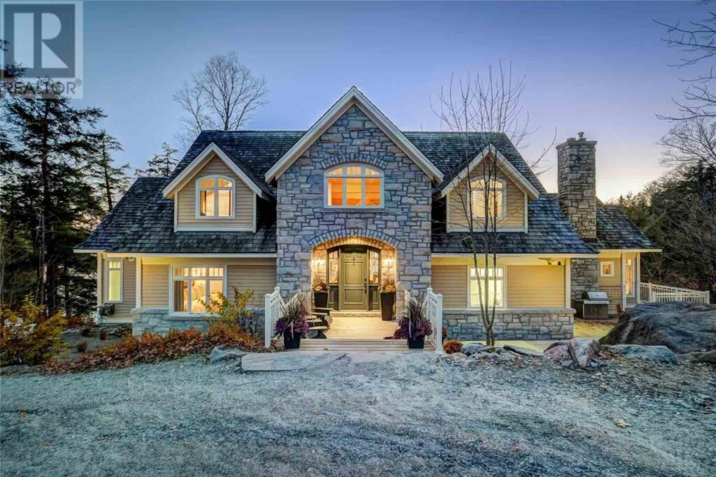 1363 JUDDHAVEN RD , Muskoka Lakes-Luxury Muskoka real estate exterior view at night