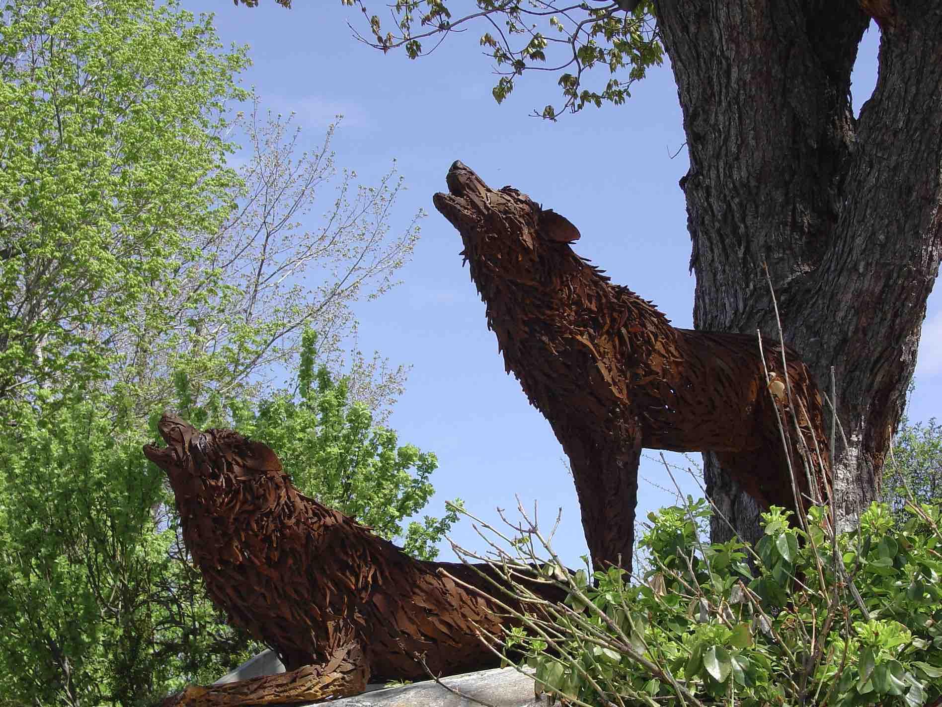 Hilary Clarke Cole - Wolves sculpture