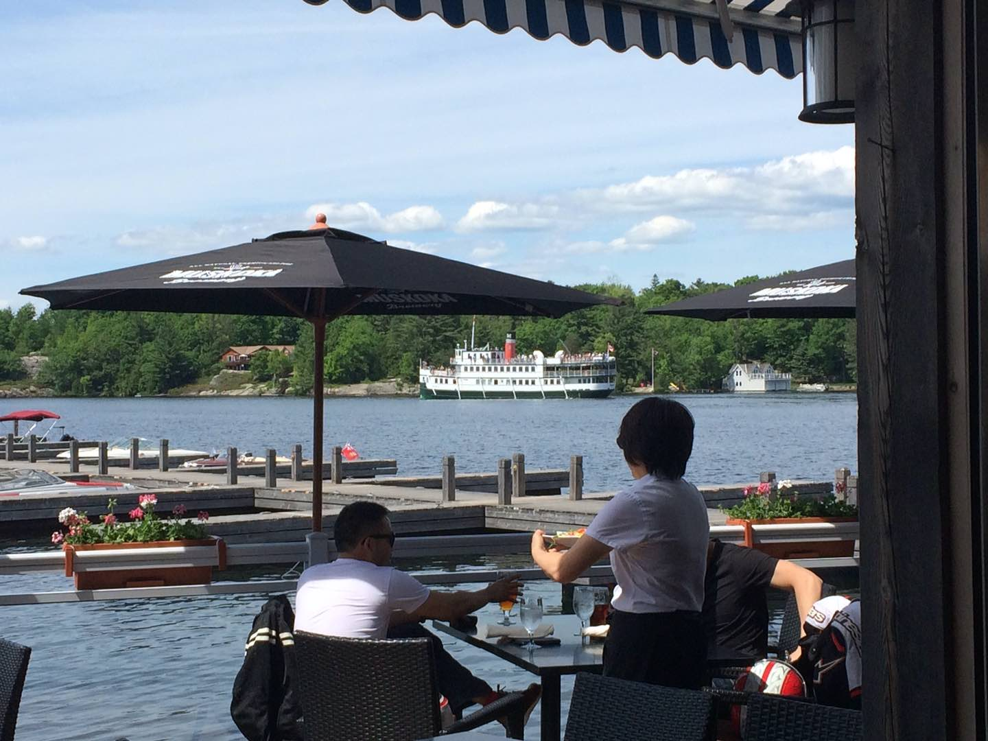 Dock of the Bay patio in summer