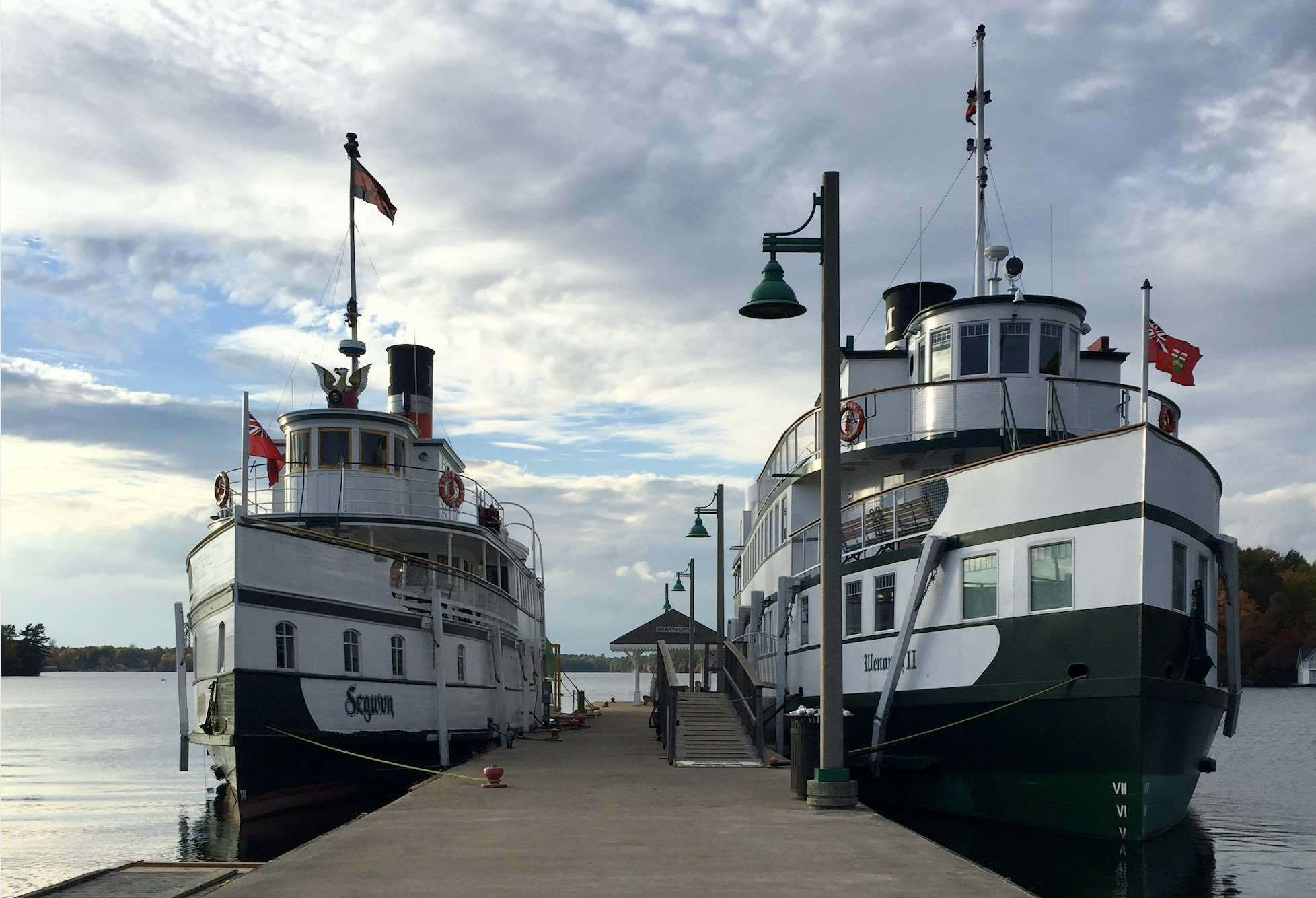 RMS Segwun - Kim Dearsley - At Dock living in Gravenhurst Ontario